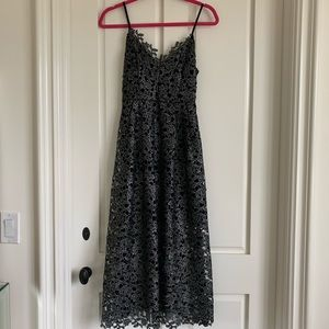 ASTR Silver/Blue Lace Dress